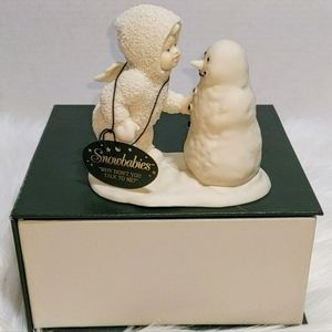 DEPT 56 Snowbabies 68012 Why Don't You Talk to Me